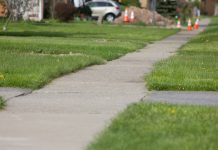 Block grant funding is allowing the town to replace sidewalks in the southwest part of Cheektowaga. (Jim Herr/Cheektowaga Chronicle)