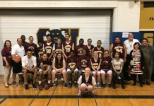 Shown here at Sweet Home is the Cheektowaga Central Warriors Unified Basketball team with Superintendent Morris, Coach Pane, Coach Sedor, Mrs. Hennessy and Mr. Marchese. (Submitted photo)