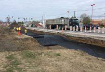 Construction workers widen Walden Avenue on May 12, 2017 Jim Herr/Cheektowaga Chronicle)