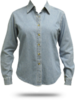 LSP10 Port & Company Ladies' Long Sleeve Value Denim