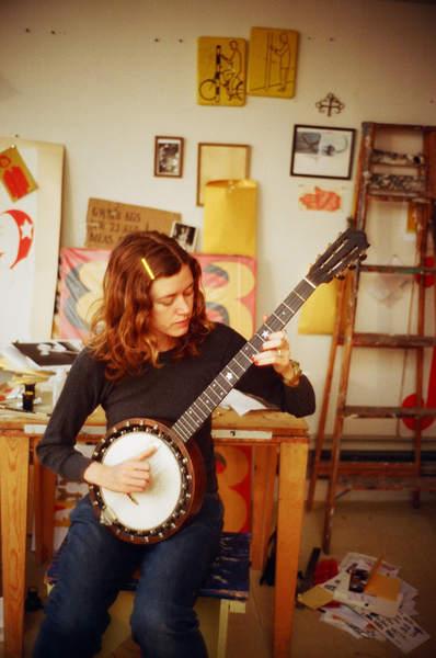 Margaret Killgallen - in her studio SF ca.