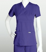 4153 Grey's Anatomy 3-Pocket Mock-Wrap Scrub Top
