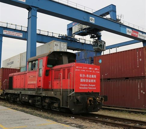 First freight train from China's Changsha arrives in Budapest