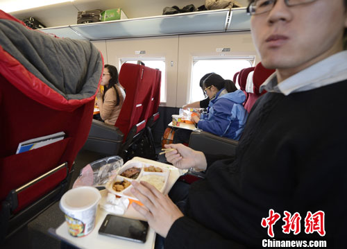 Fast food now available on bullet trains