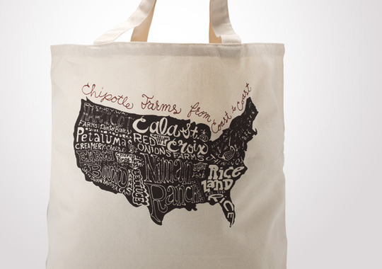 Chipotle Farms Across America Large Market Tote