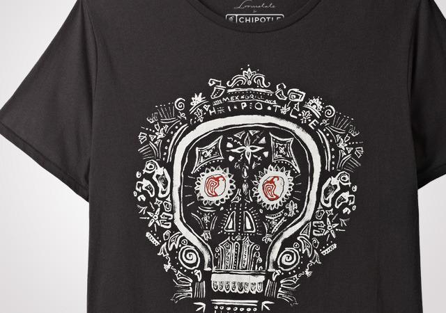 Chipotle Dia De Los Muertos Men's T-Shirt
