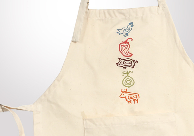 Chipotle Kids Farm Animal Canvas Apron