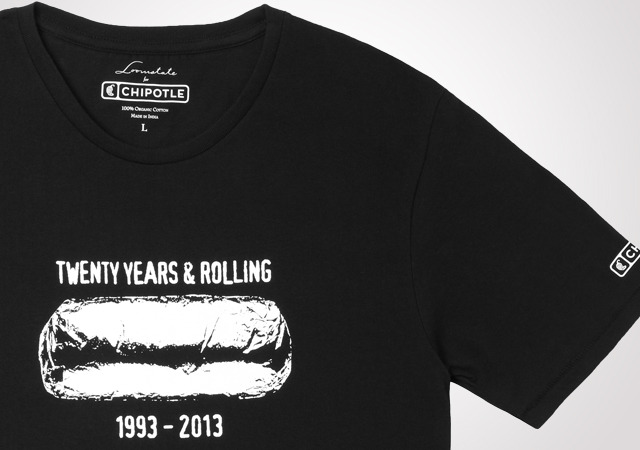 Chipotle Mens 20th Anniversary Tee