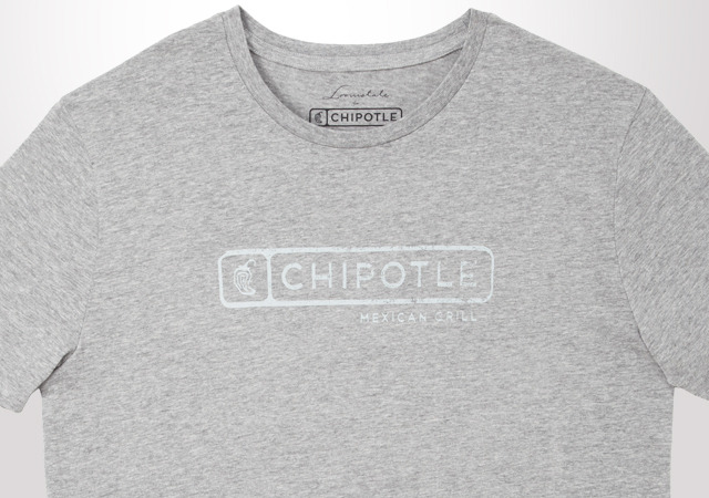 CHIPOTLE DISTRESSED TONAL LOGO MEN'S T-SHIRT