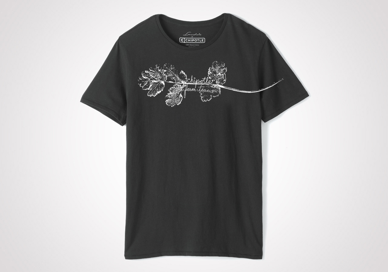 "Chipotle Farm Team ""Cilantro"" Unisex T Shirt - Black"