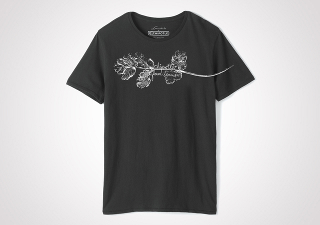 "Chipotle Farm Team ""Cilantro"" Unisex T Shirt - Black"