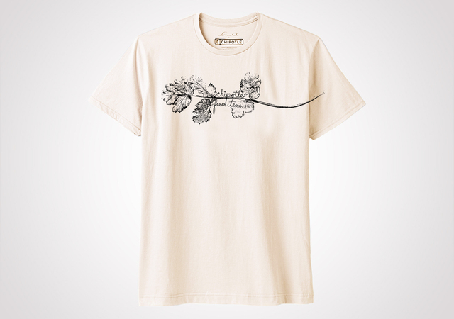 "Chipotle Farm Team ""Cilantro"" Unisex T Shirt - Natural"