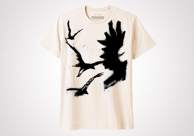 """Chipotle Farm Team """"Free Bird"""" Unisex T Shirt - Natural"""