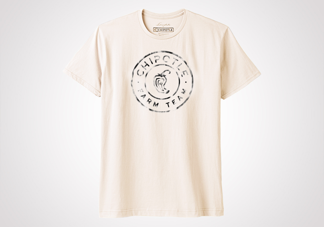 "Chipotle Farm Team ""Spray Medallion"" Unisex T Shirt - Natural"
