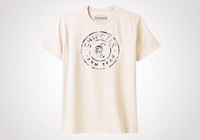 "Chipotle Farm Team ""Spray Medallion"" Unisex T Shirt - Natural"