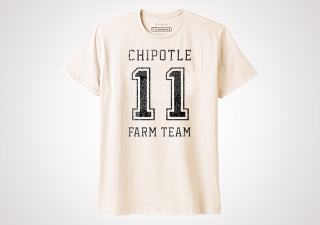 "Chipotle Farm Team ""Varsity"" Unisex T Shirt - Natural"