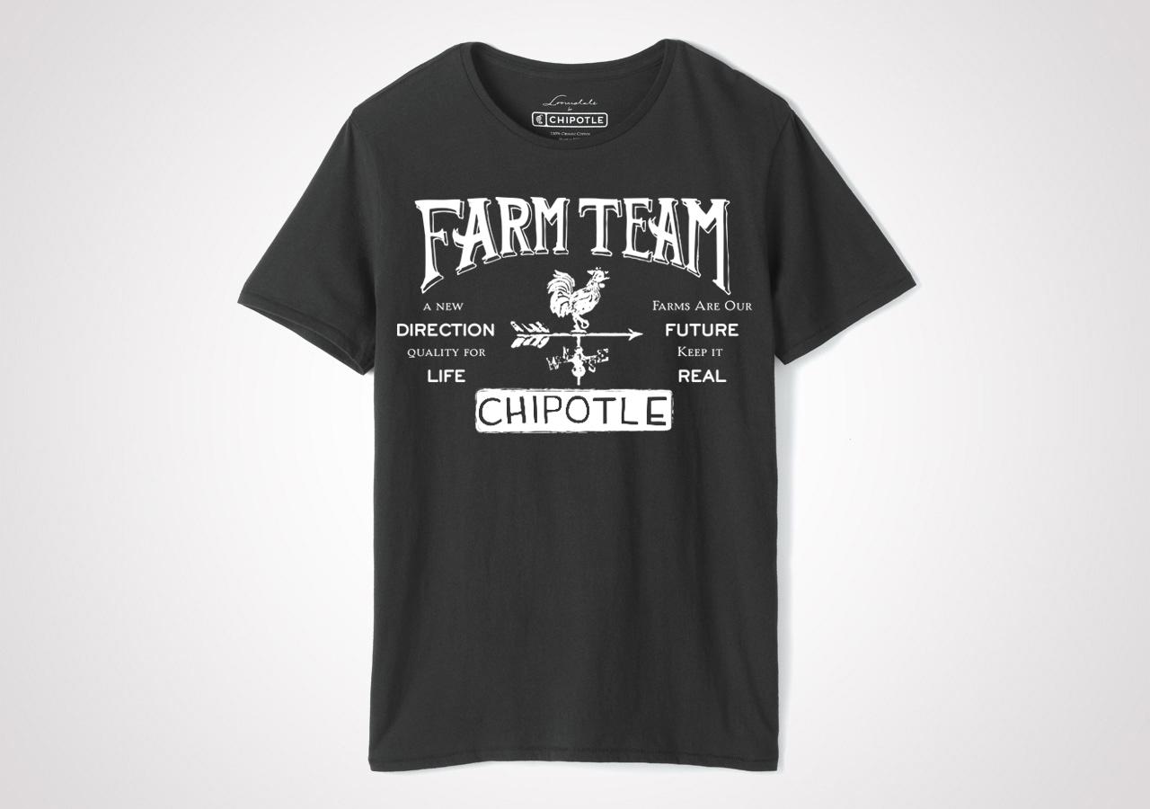 "Chipotle Farm Team ""Weather Vane"" Unisex T Shirt - Black"