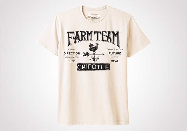 "Chipotle Farm Team ""Weather Vane"" Unisex T Shirt - Natural"