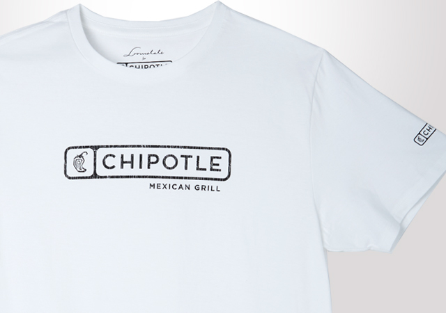 Chipotle Distressed Horizontal Logo Tee