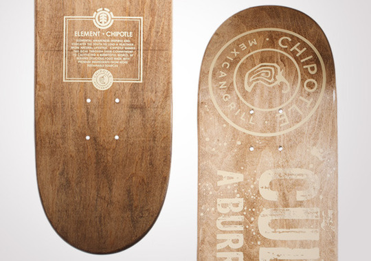 Element + Chipotle Skate Deck