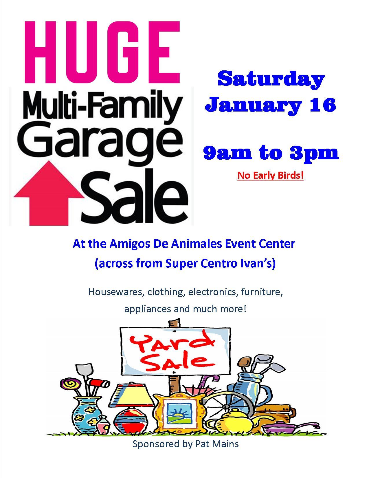 huge multi family yard 16 9am 3pm community yard flyer jpg
