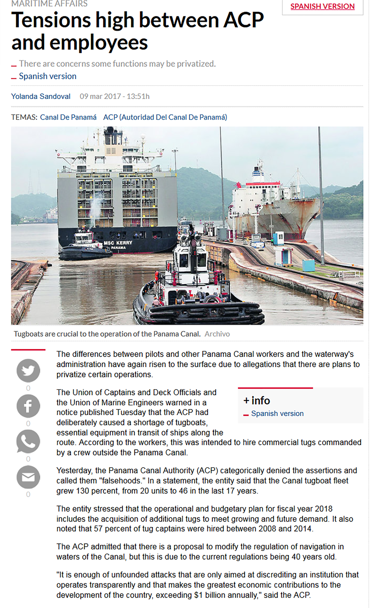 Panama Canal Ops Post Expansion Inauguration Non Process Flow Diagram Tensions High Between Acp And Employees