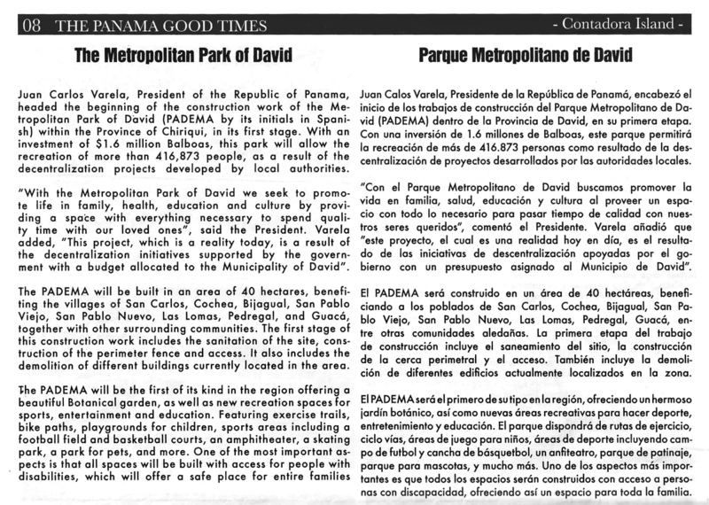 Panama Good Times article re the Metropolitan Park of David edited.png