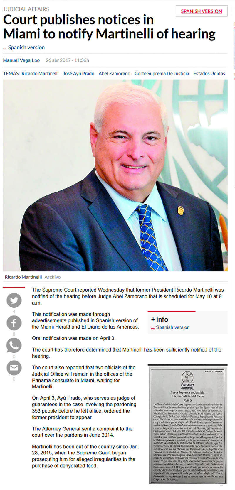 Court Publishes Notices in Miami of Martinelli Hearing.png