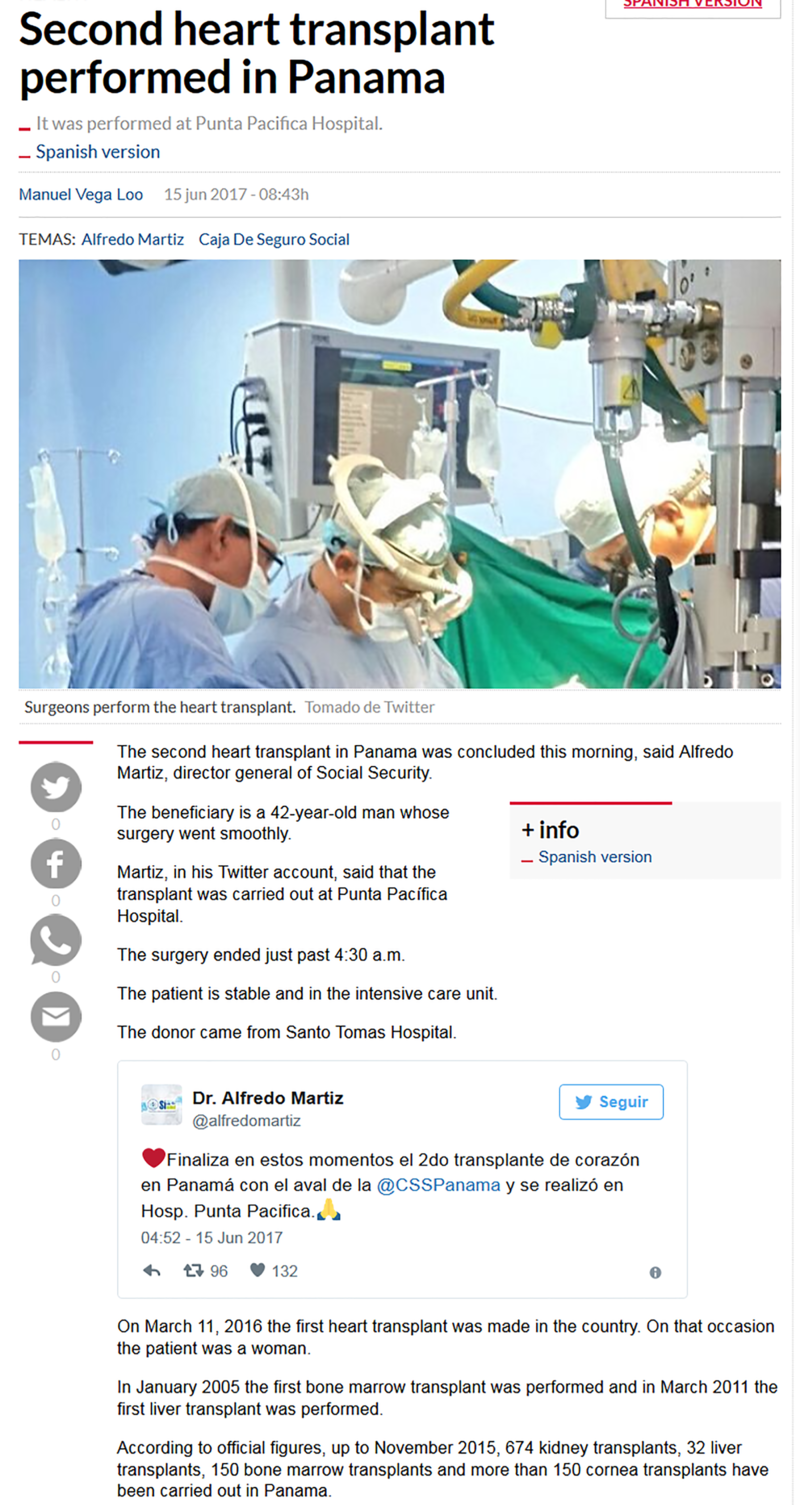 Second Heart Transplant Done in Panama.png