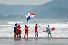 Team Panama in Hyuga Japan for the 2017 ISA World championship surfing competition