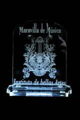 Laser Engraved Acrylic Music Award