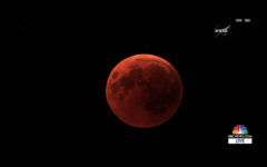 Total lunar eclipse from Cairo 7/27/2018