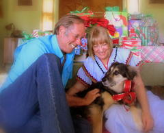 Merry Christmas from Alison, Bill and Flossy
