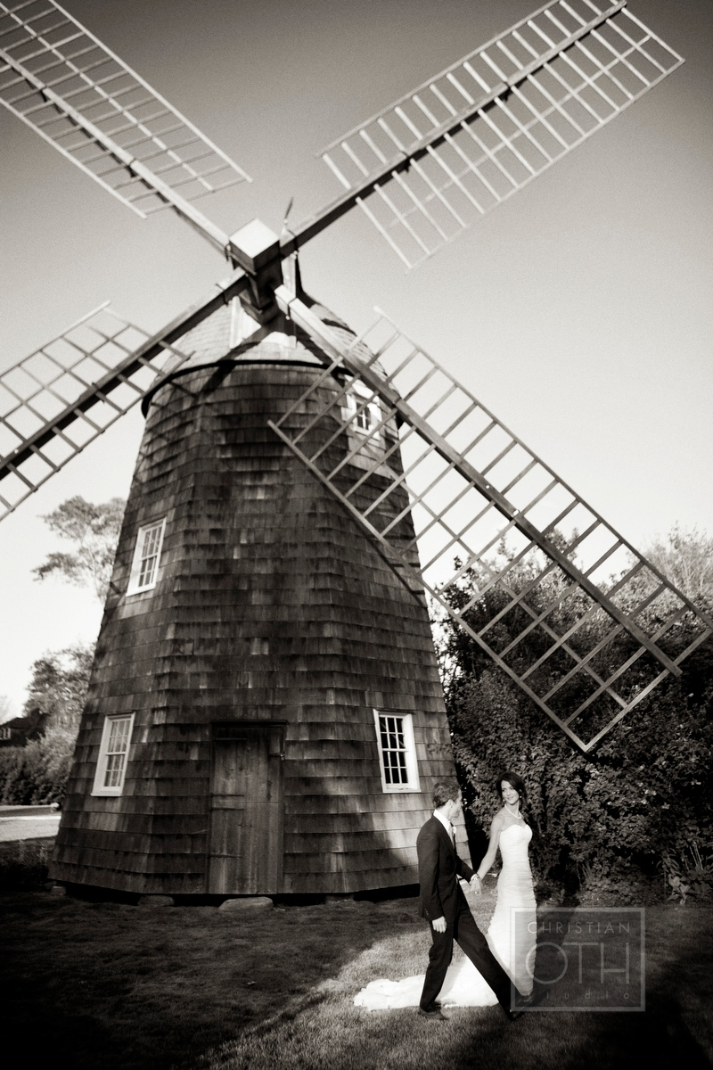 Bride and Groom at Mulford Farm, East Hampton NY at their wedding - Michael Falco of Christian Oth Studio