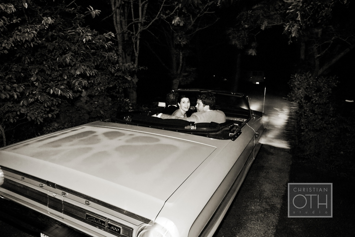 bride and groom getaway car - Christian Oth of Christian Oth Studio