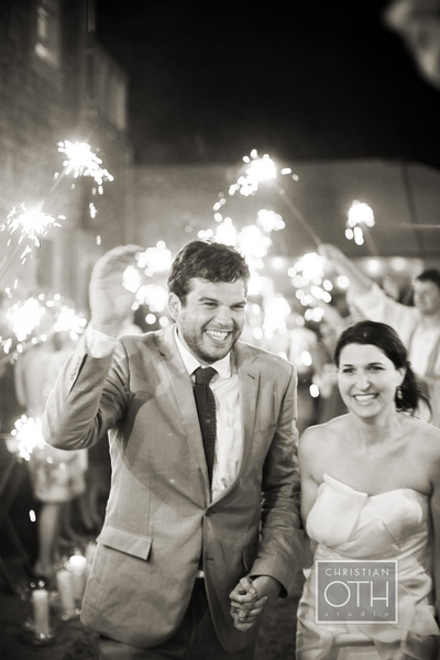 bride and groom sparklers - Christian Oth of Christian Oth Studio