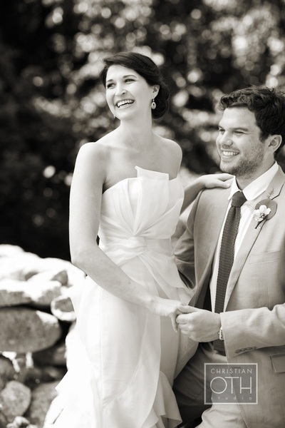 bride and groom laughing - Christian Oth of Christian Oth Studio