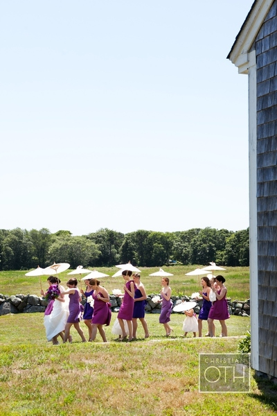 bridal party walking - Christian Oth of Christian Oth Studio