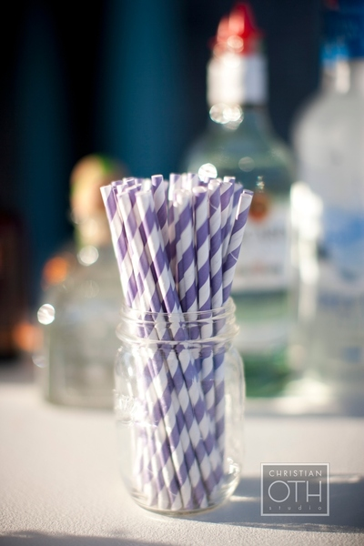 purple and white straws in mason jar - Christian Oth of Christian Oth Studio