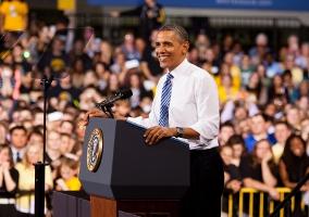 Obama in Iowa City