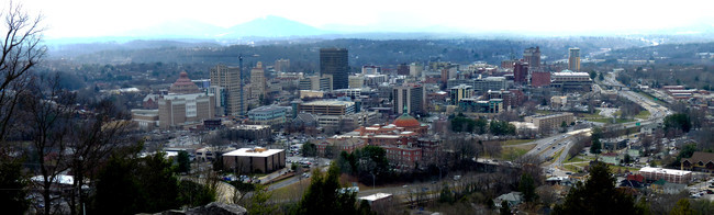 Asheville downtown panorama