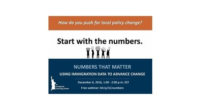 Upcoming Webinar on Immigration Data to Advance Change