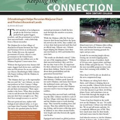 New Century College is proud to present our inaugural newsletter: Keeping the Connection