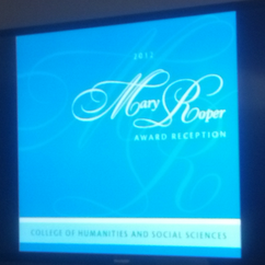 Eight Honored at Mary Roper Award Reception