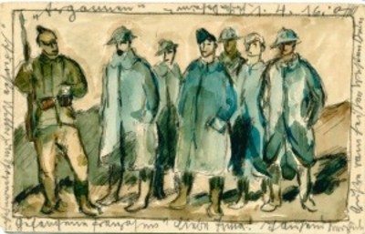 Deshmukh Co-Curates WWI Watercolor Postal Card Exhibit
