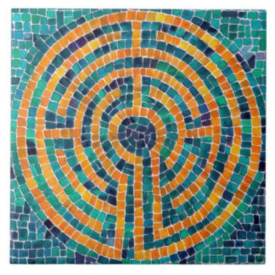 Labyrinth mosaic ii large ceramic tile rfed658c9ded447eab3f7918043e67508 agtbm 8byvr 324