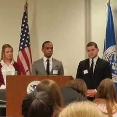 Fuertes and Class Present at Department of Homeland Security