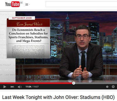 Econ Journal Watch article mentioned on HBO by John Oliver