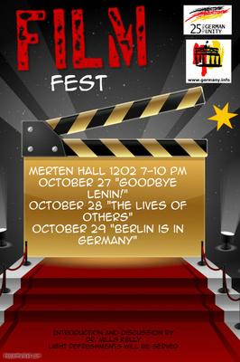 German FilmFest: Oct 27, 28, & 29