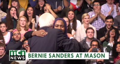 Bernie Sanders Comforts Mason Student